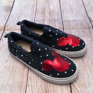 Gap Kids Disney Mickey Mouse Shoes Polka Dot Sz 2